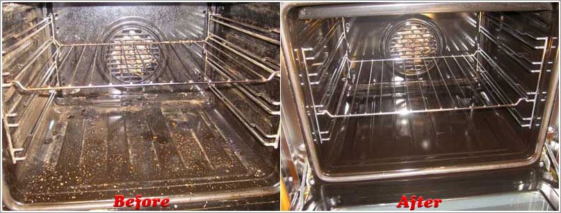 Before and after shot of one of our ovens